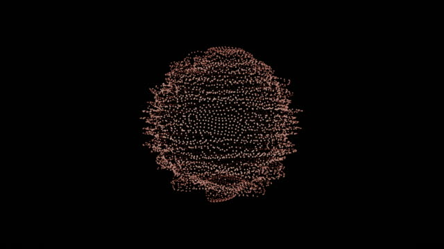 metamorphose of amorphous shape from dots and lines, abstract animation of future shape 4K video