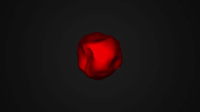 metamorphose of amorphous shape with waved surface video