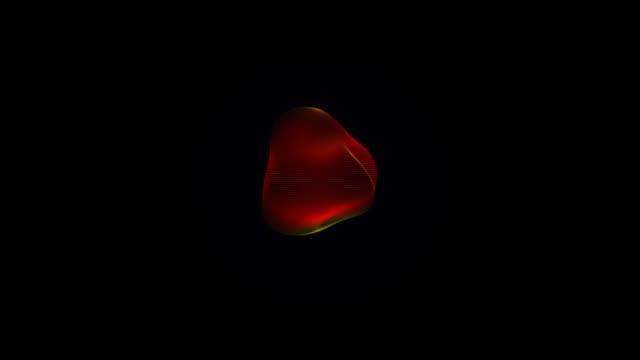metamorphose of amorphous sphere, spherical ondulation, abstract animation of future shape video