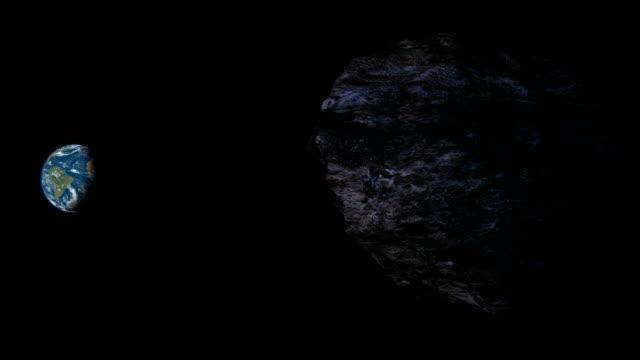 유성 향하기 지구별 - 유성 스톡 비디오 및 b-롤 화면