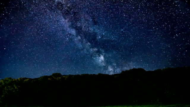 Meteor Shower, Milky Way galaxy Time lapse.