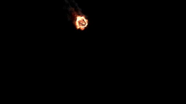 Meteorite Flying Towards The Camera