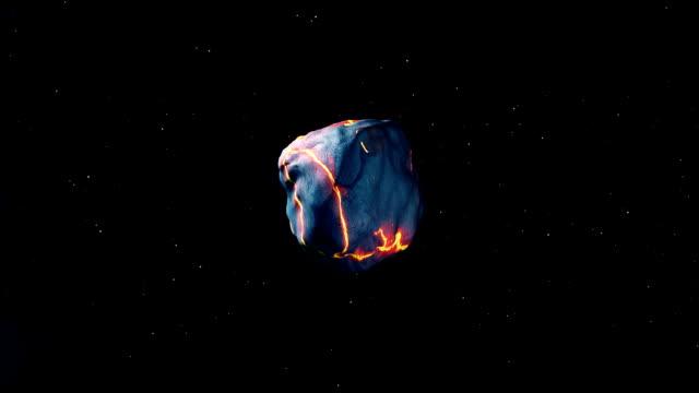 Meteorite towards earth video