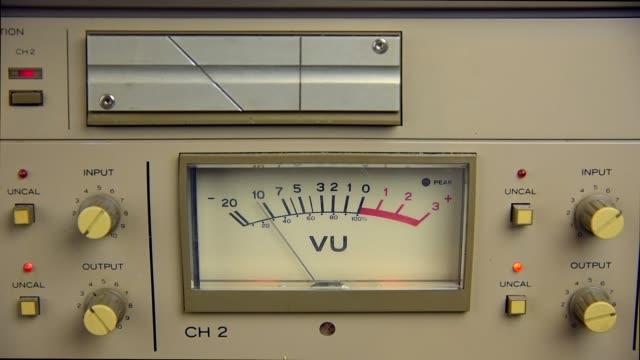 vu meter - analogiczny filmów i materiałów b-roll