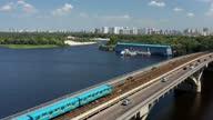 istock Metro bridge across the Dnieper river in Kyiv. 1340463321