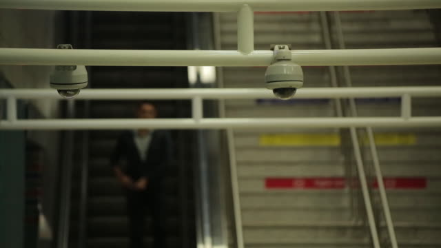 Metro station security cameras