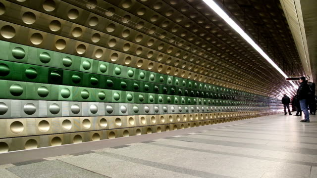Metro Underground Station, Prague, Czech Republic