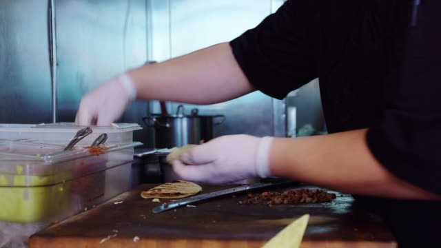 Mexican Chef Making Tacos video