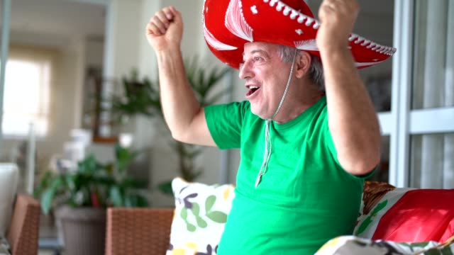 Mexican Fan Celebrating at Home video