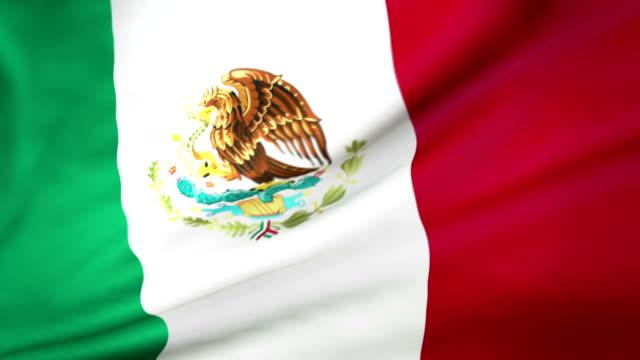 vídeos de stock, filmes e b-roll de bandeira mexicana circulares - insígnia