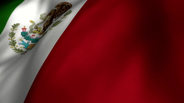 Mexican Flag Slow Motion - Looping video