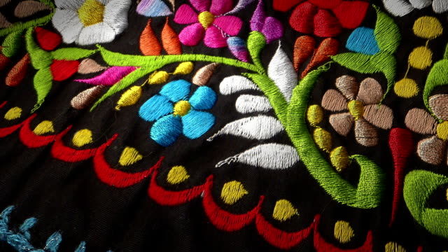 Mexican Flowers Textile video