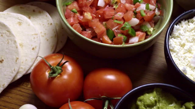 Comida mexicana ingredientes - vídeo