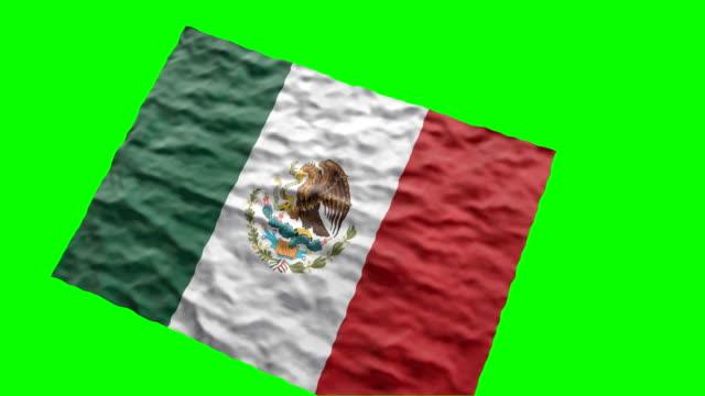 vídeos y material grabado en eventos de stock de bandera mexicana estadio. saludando en pantalla verde - comida mexicana