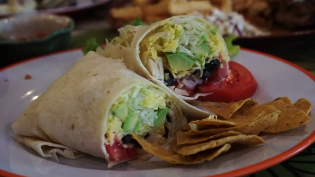Mexican Stuffed Burrito Avocado And Rice Cheese Mexican Stuffed Burrito Avocado And Rice Cheese stuffed stock videos & royalty-free footage