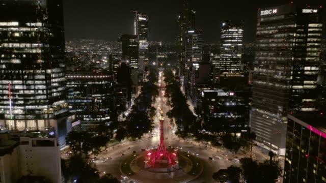 mexico city, aerial shot. - город мехико стоковые видео и кадры b-roll