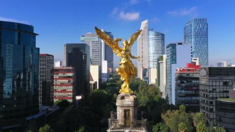 vista aerea di città del messico - america latina video stock e b–roll