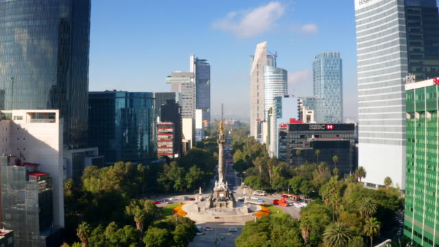 vídeos de stock e filmes b-roll de mexico city aerial view - independência