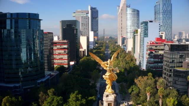 mexico city aerial view - город мехико стоковые видео и кадры b-roll