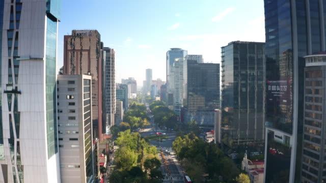 Vista aérea de la ciudad de México - vídeo