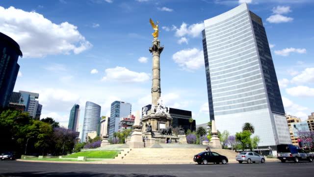 мехико, ангел независимости - город мехико стоковые видео и кадры b-roll