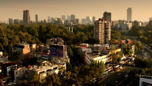 mexico city cityscape - город мехико стоковые видео и кадры b-roll