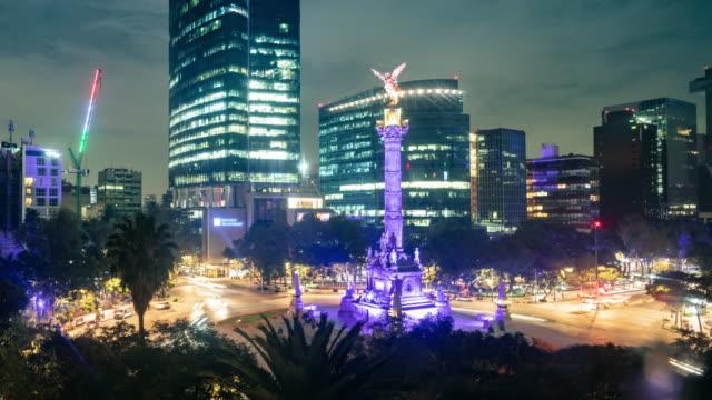mexico city night time lapse - город мехико стоковые видео и кадры b-roll