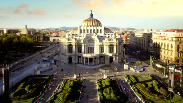 mexico city, palace bellas artes - neoclassical architecture stock videos & royalty-free footage