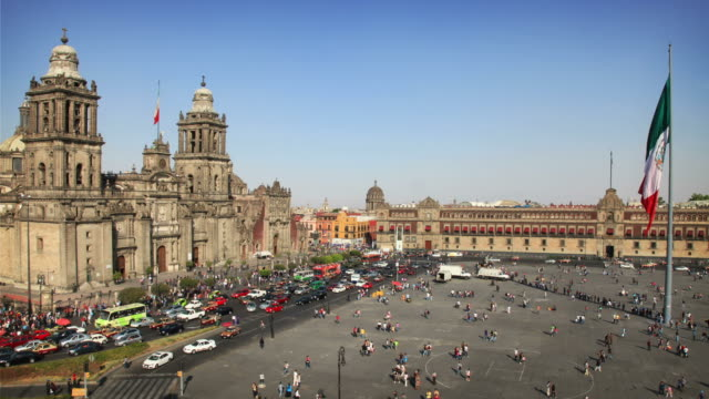 мехико-сити (зокало - город мехико стоковые видео и кадры b-roll