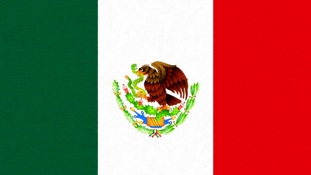 Mexico flag waving seamless loop new quality unique animated dynamic motion joyful colorful cool background video footage video