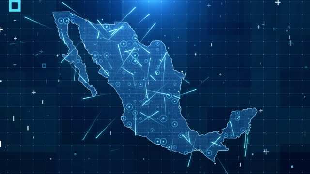 Mexico Map Connections full details Background 4K