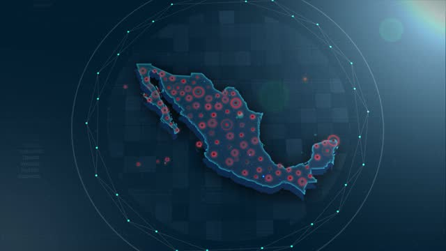 4K Mexico Map Links 4K with full background details
