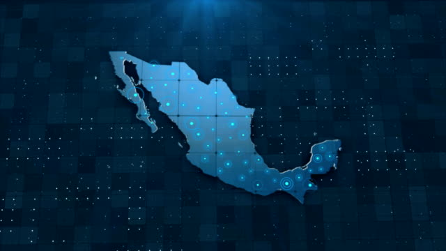 4K Mexico Map Links with full background details
