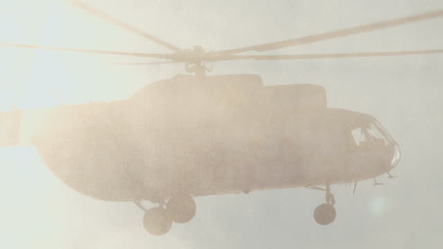 Mi-8 helicopter in the air video