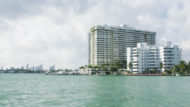 Miami Beach Florida Skyscraper Buildings on the Bay Time Lapse video