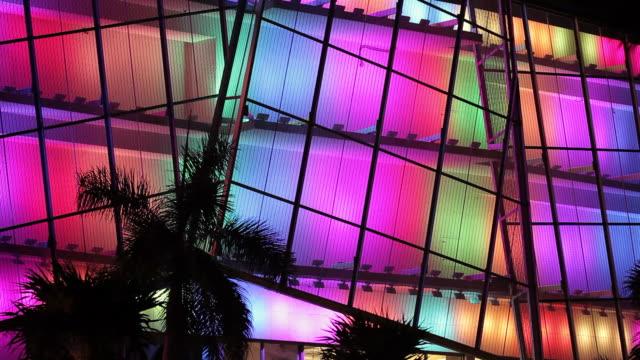 miami beach light show - art deco architecture stock videos & royalty-free footage