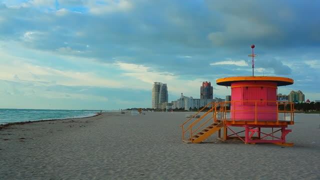 miami beach morning - art deco architecture stock videos & royalty-free footage