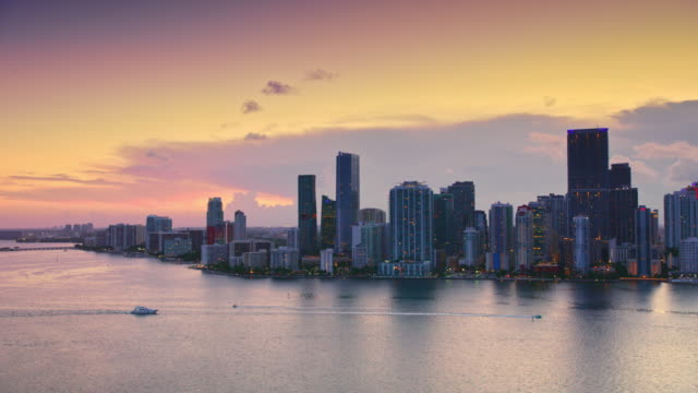 AERIAL Miami Brickell at sunset video