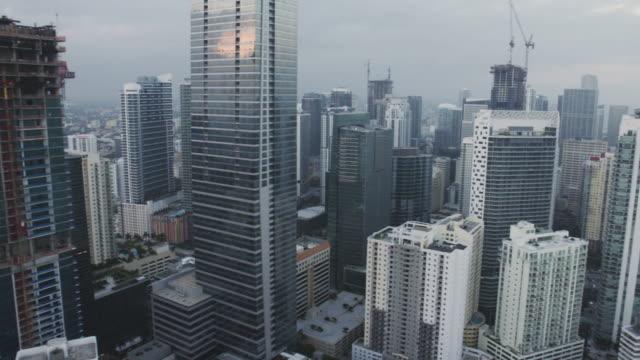 Miami Florida Downtown Skyline Towers Aerial Shot video