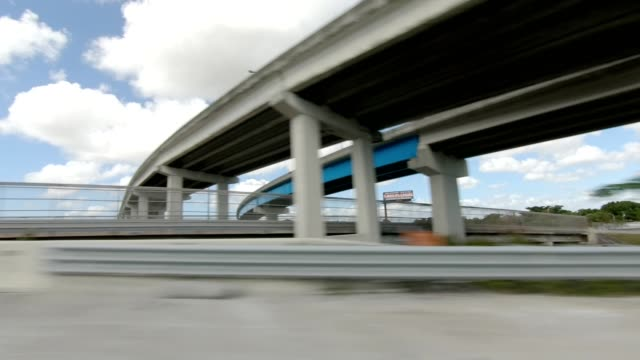 Miami Highway II synced series Right view driving process plate