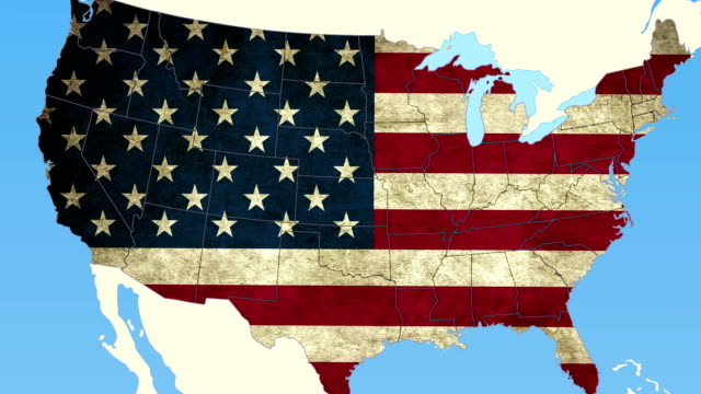 Michigan pull out, smooth USA map, all states available video
