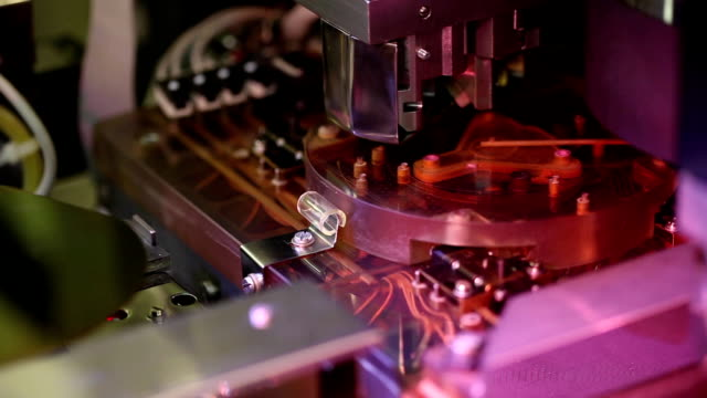 Microelectronic testing equipment in work in the laboratory