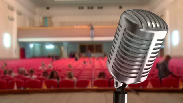 microphone and sold out in the auditorium (timelapse) video