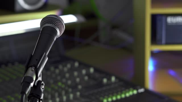microphone in the recording studio video