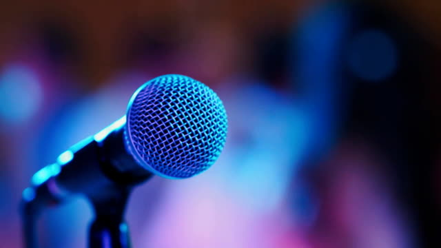 microphone on stage video