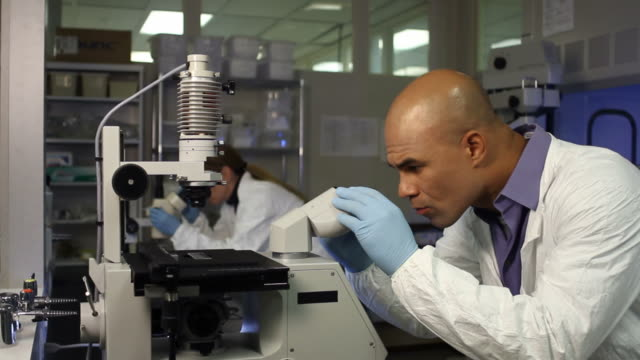 Microscopes Man in Front video