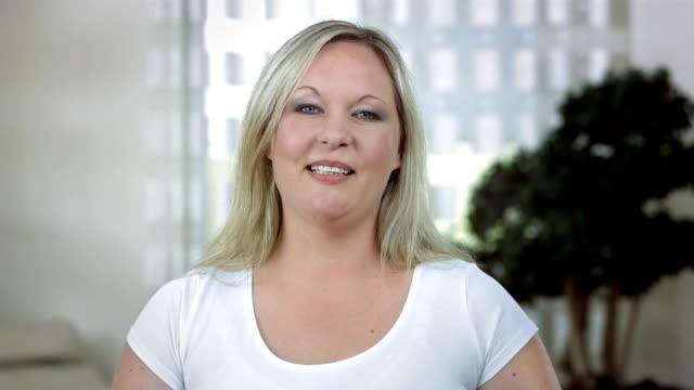 HD: Mid-Adult Woman Talking At Camera video