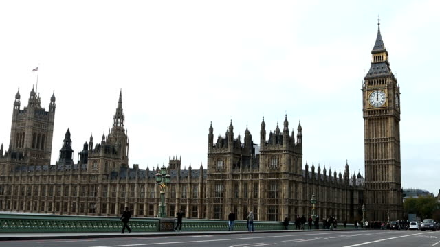 Midday, Big Ben, House of Commons. video