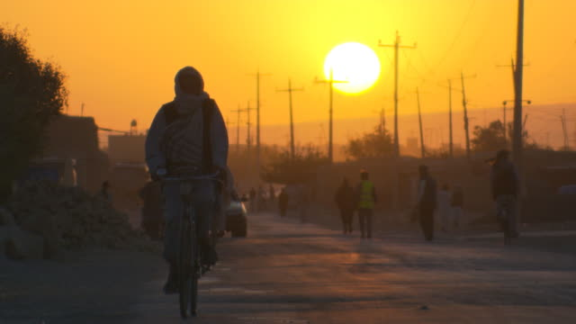 Middle East, Morning in Afghanistan, Mazar-e-Sharif, people walking the streets. video