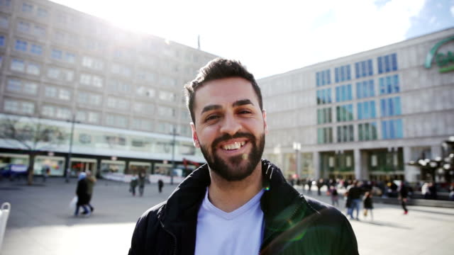 Middle eastern man in Berlin - Germany video